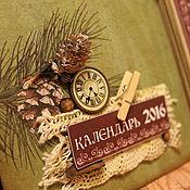 Подарки к праздникам ручной работы. Ярмарка Мастеров - ручная работа Календарь 2017 (на заказ). Handmade.
