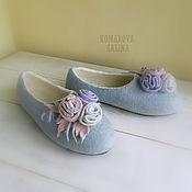 Обувь ручной работы handmade. Livemaster - original item Slippers: felted Slippers for women