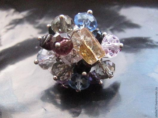 """Кольца ручной работы. Ярмарка Мастеров - ручная работа. Купить Кольцо с натуральными камнями """"Букет"""". Handmade. Натуральные камни, гранат"""