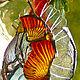 Освещение ручной работы. Ярмарка Мастеров - ручная работа. Купить Витражный светильник в стиле тиффани-факел.,в ковку.. Handmade. пламя