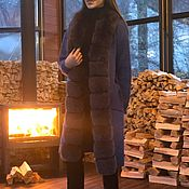 Одежда handmade. Livemaster - original item Cardigan with Arctic Fox fur. The Model Of The