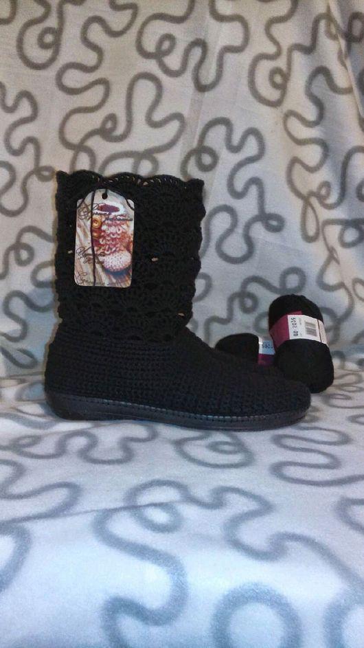 """Обувь ручной работы. Ярмарка Мастеров - ручная работа. Купить Сапожки """"Уголек"""". Handmade. Подарок, подарок на любой случай"""