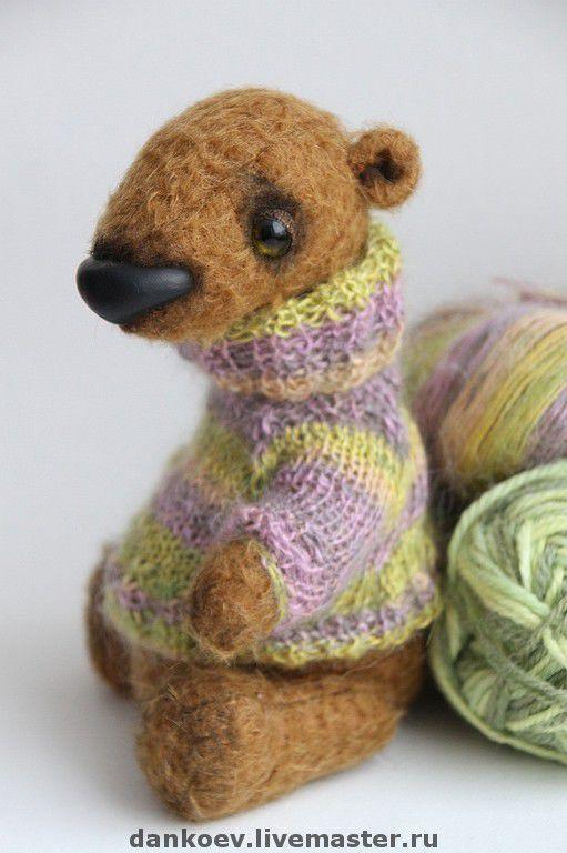 Мишки Тедди ручной работы. Ярмарка Мастеров - ручная работа. Купить Мишка тедди Бруно. Handmade. Мишки тедди