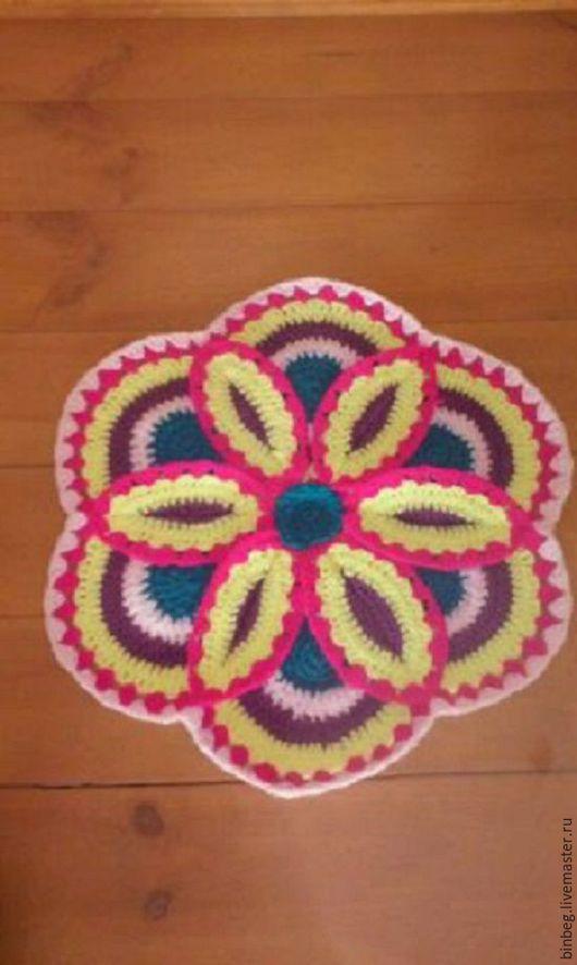 Текстиль, ковры ручной работы. Ярмарка Мастеров - ручная работа. Купить Вязанный коврик.. Handmade. Комбинированный, коврик ручной работы