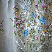 Для дома и интерьера handmade. Livemaster - original item CURTAINS: Linen curtains Happy Summer!! Hand painted!!. Handmade.