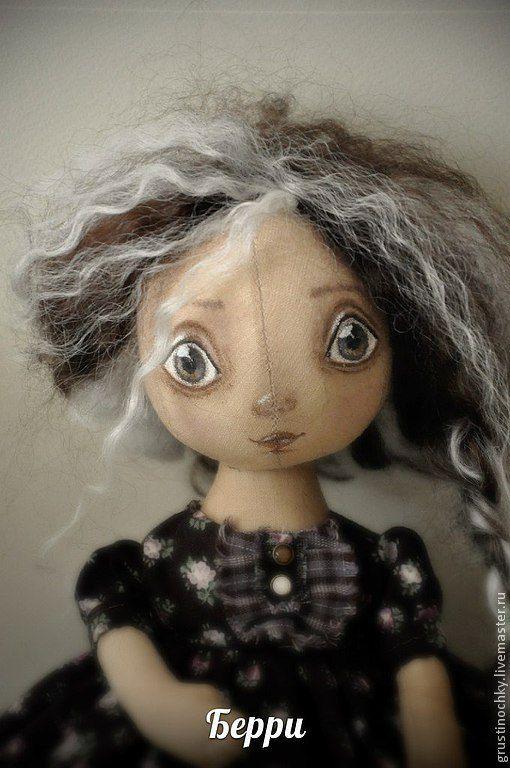 Куклы тыквоголовки ручной работы. Ярмарка Мастеров - ручная работа. Купить Интерьерная кукла-тыквоголовка Берри. Handmade. Коричневый, брадсы