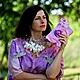 "Блузки ручной работы. Заказать Блуза ""Lilac air"".. Ирина Федотова. Ярмарка Мастеров. Блуза, блузка-туника, розовый"