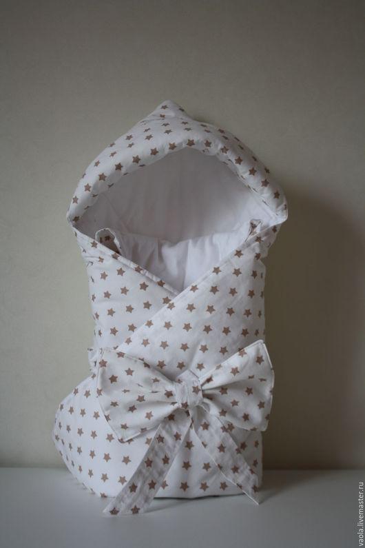Для новорожденных, ручной работы. Ярмарка Мастеров - ручная работа. Купить Одеяло конверт для новорожденного. Handmade. Белый, одеяло, для малыша