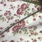 Ткани ручной работы. Ярмарка Мастеров - ручная работа Ткань Фланель Розы мелкие хлопок 100% 170/м2, ширина 240см. Турция. Handmade.