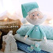 Елочные игрушки ручной работы. Ярмарка Мастеров - ручная работа Дед мороз из фетра. Handmade.