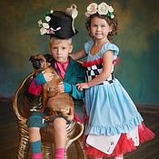 Платья ручной работы. Ярмарка Мастеров - ручная работа Алиса в стране чудес. Карнавальный костюм нарядное платье. Handmade.