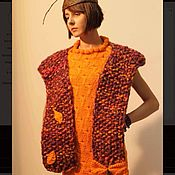 Одежда handmade. Livemaster - original item Knitted sleeveless dress. Handmade.