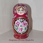 "Русский стиль handmade. Livemaster - original item Russian doll ""Traditional - Flowers"" 5 pieces. Handmade."