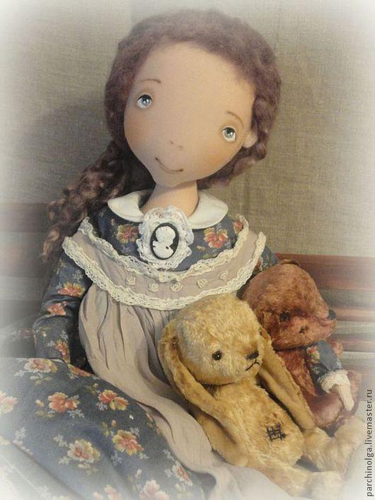 Коллекционные куклы ручной работы. Ярмарка Мастеров - ручная работа. Купить Мое Плюшевое Счастье. Handmade. Синий, тедди мишка