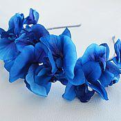 Украшения ручной работы. Ярмарка Мастеров - ручная работа Ободок голубые орхидеи. Handmade.