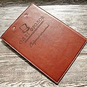 Канцелярские товары ручной работы. Ярмарка Мастеров - ручная работа Папка, зажим для бумаг из натуральной кожи. Handmade.