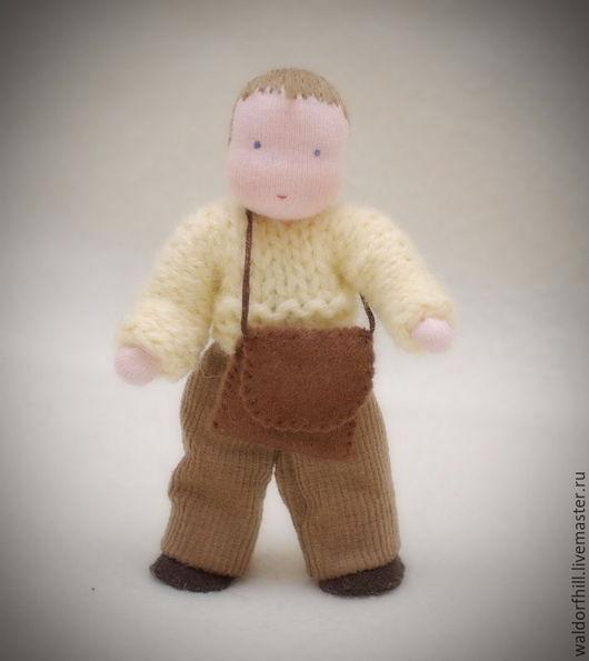Вальдорфская игрушка ручной работы. Ярмарка Мастеров - ручная работа. Купить Кукла на проволочном каркасе (12 см). Handmade.