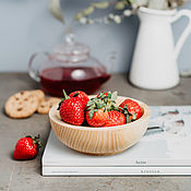 Посуда handmade. Livemaster - original item 13,5 cm wooden bowl for Siberian Cedar food T89. Handmade.