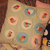 Для дома и интерьера ручной работы. Ярмарка Мастеров - ручная работа подушка с птичками. Handmade.