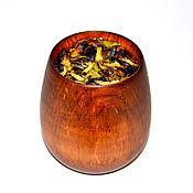 Посуда handmade. Livemaster - original item Wooden Glass Siberian Cedar Ware, wooden Tea #C17. Handmade.