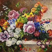 """Картина """"Натюрморт с цветами"""""""