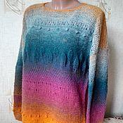 Одежда ручной работы. Ярмарка Мастеров - ручная работа шерстяной пуловер. Handmade.