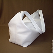 Сумки и аксессуары handmade. Livemaster - original item Bag from soft genuine leather in white.. Handmade.
