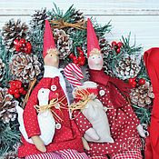 Куклы и игрушки handmade. Livemaster - original item Christmas doll Tilda. Handmade.