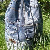 Сумки и аксессуары handmade. Livemaster - original item Backpack denim KhayfaIII. Handmade.