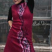 """Одежда ручной работы. Ярмарка Мастеров - ручная работа Валяное платье """" Гранат """". Handmade."""