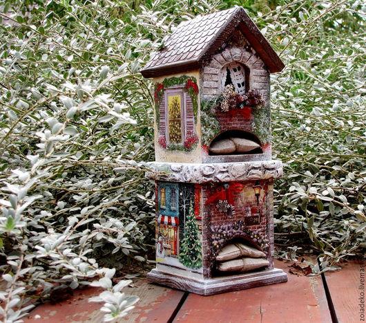 """Кухня ручной работы. Ярмарка Мастеров - ручная работа. Купить Чайный домик 3 из зимней коллекции """"Мой зеленый Новый год"""". Handmade."""
