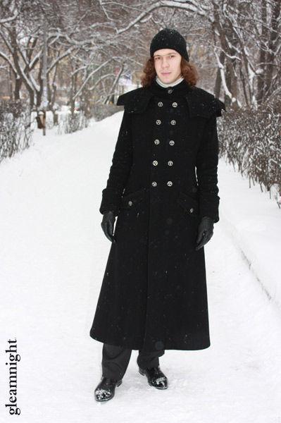 Для мужчин, ручной работы. Ярмарка Мастеров - ручная работа. Купить Готическое мужское пальто. Handmade. Мужское пальто, черный