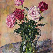 Картины и панно ручной работы. Ярмарка Мастеров - ручная работа Букет роз. Handmade.