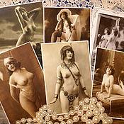 Винтаж ручной работы. Ярмарка Мастеров - ручная работа 6 эротических открыток, Германия. Handmade.