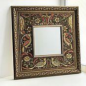 Для дома и интерьера handmade. Livemaster - original item Mirror Ornament Morris Painting ceramic tiles Painting ceramic. Handmade.