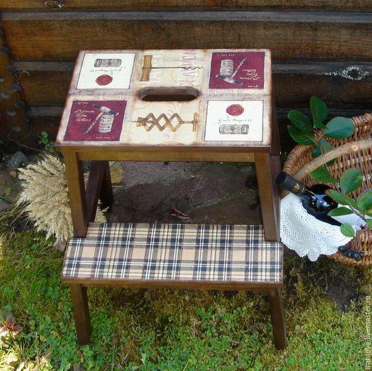 Мебель ручной работы. Ярмарка Мастеров - ручная работа. Купить Табурет-стремянка «Мужской подход». Handmade. Табурет, винный, пробка