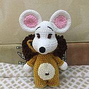 Мягкие игрушки ручной работы. Ярмарка Мастеров - ручная работа Плюшевая мышь в костюме льва. Handmade.