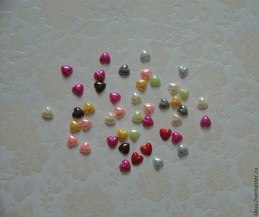 Открытки и скрапбукинг ручной работы. Ярмарка Мастеров - ручная работа. Купить Набор сердечек разноцветных 8 мм. Handmade. Сердце