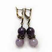 Украшения handmade. Livemaster - original item Amethyst earrings
