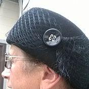 Аксессуары ручной работы. Ярмарка Мастеров - ручная работа Авторская шляпа таблетка из фетра. Handmade.