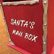 Подарки к праздникам ручной работы. Ярмарка Мастеров - ручная работа Post box почтовый ящик Santa`s mail box. Handmade.