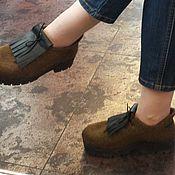 Обувь ручной работы. Ярмарка Мастеров - ручная работа Туфли демисезонные. Handmade.