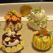 Куклы и игрушки ручной работы. Ярмарка Мастеров - ручная работа миниатюрные торты, пирожные, бутылочки и флакончики. Handmade.