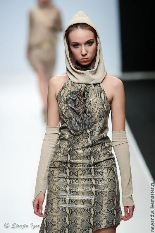"""Платья ручной работы. Ярмарка Мастеров - ручная работа. Купить 3D Платье из натуральной кожи """"Игуана"""". Handmade. 3d"""
