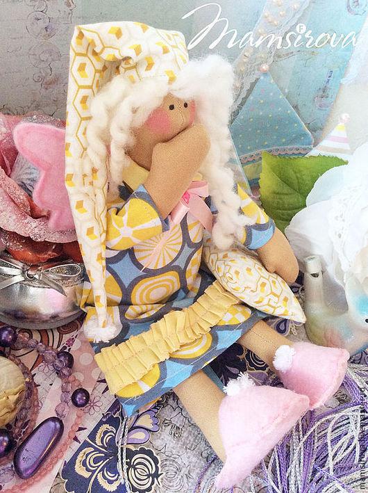 Куклы Тильды ручной работы. Ярмарка Мастеров - ручная работа. Купить Тильда-Ангел сна-Сплюшка. Handmade. Тильда, флис