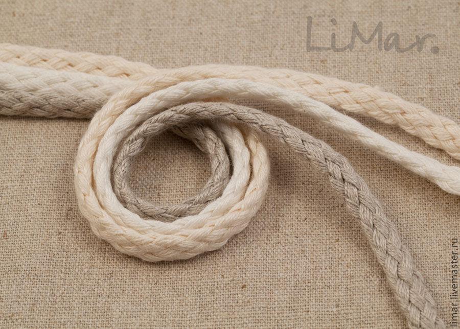 Шнур льняной плетёный