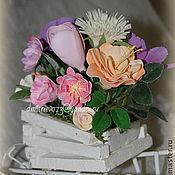 Цветы и флористика ручной работы. Ярмарка Мастеров - ручная работа Тележка с цветами. Handmade.