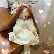 """Куклы и игрушки ручной работы. Ярмарка Мастеров - ручная работа Куколка в белом """"Зимушка"""". Handmade."""