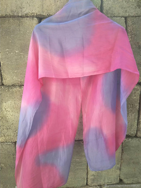 Scarf with bright print, silk, vintage Germany, Vintage accessories, Novorossiysk,  Фото №1
