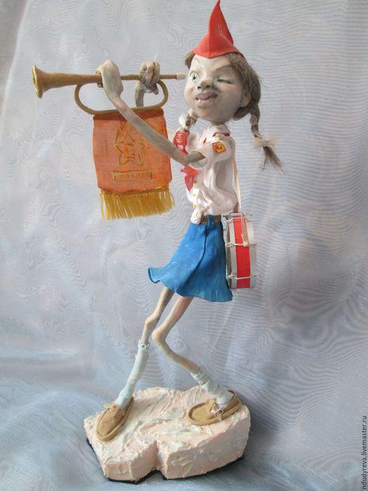 Коллекционные куклы ручной работы. Ярмарка Мастеров - ручная работа. Купить Дежурный. Handmade. Синий, полимерная глина